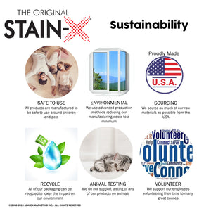 Stain-X Sustainability Graphic