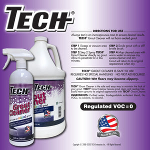 TECH Grout Cleaner Directions Graphic