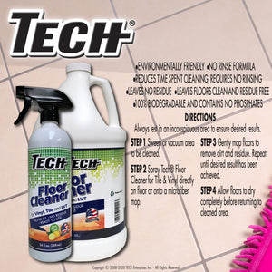 TECH Vinyl & Tile Floor Cleaner Directions