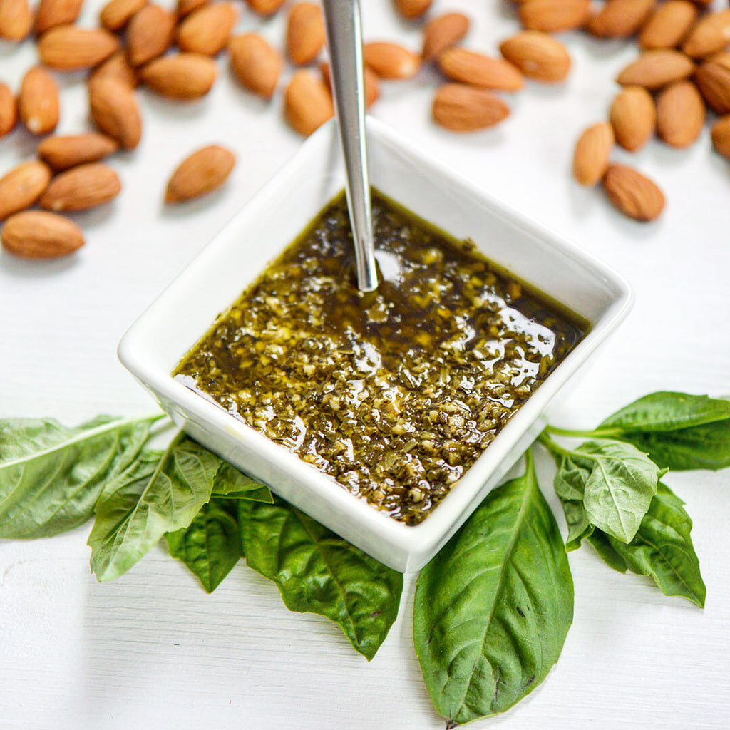Spring is here, and so is Pesto - Almond Vegan Pesto