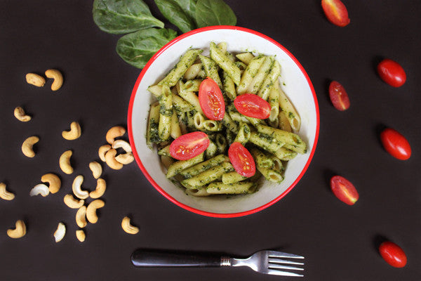 Recipe: Vegan Spinach Basil Pesto Pasta