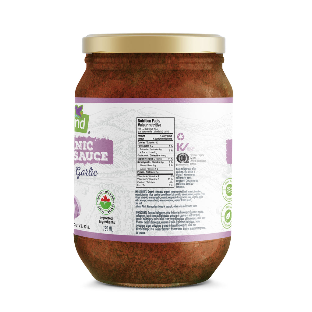 Roasted Garlic Pasta Sauce, Organic