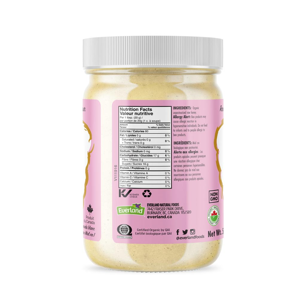 Sweetcane Organic  Honey, Creamy Raw Unpasteurized