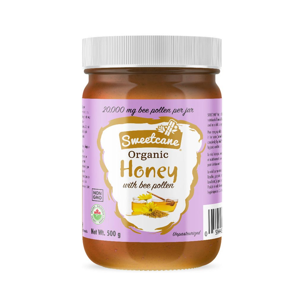 Sweetcane Organic Honey with Bee Pollen