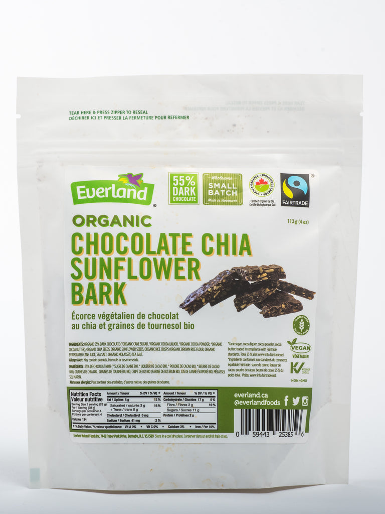 Organic Chia & Sunflower Seeds Chocolate Bark