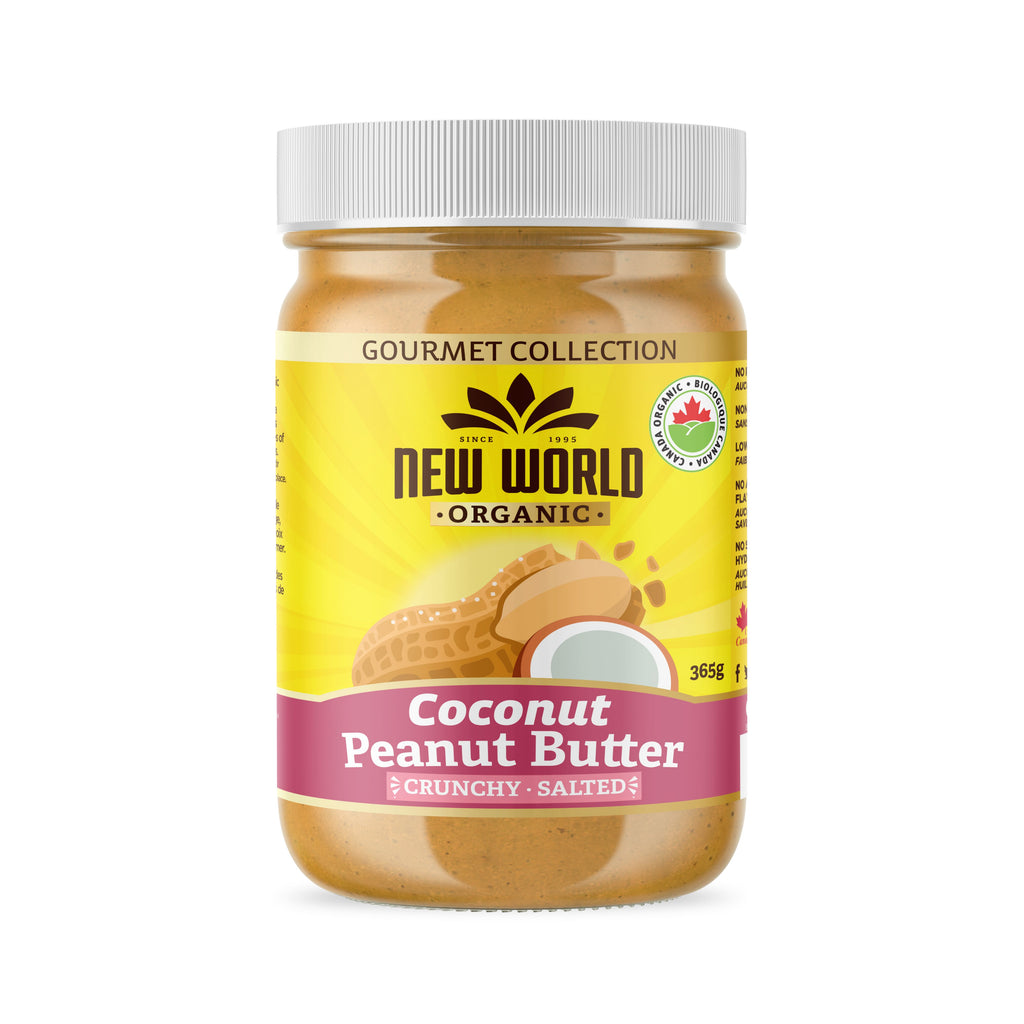 Coconut Peanut Butter, Crunchy Salted, Organic 365g