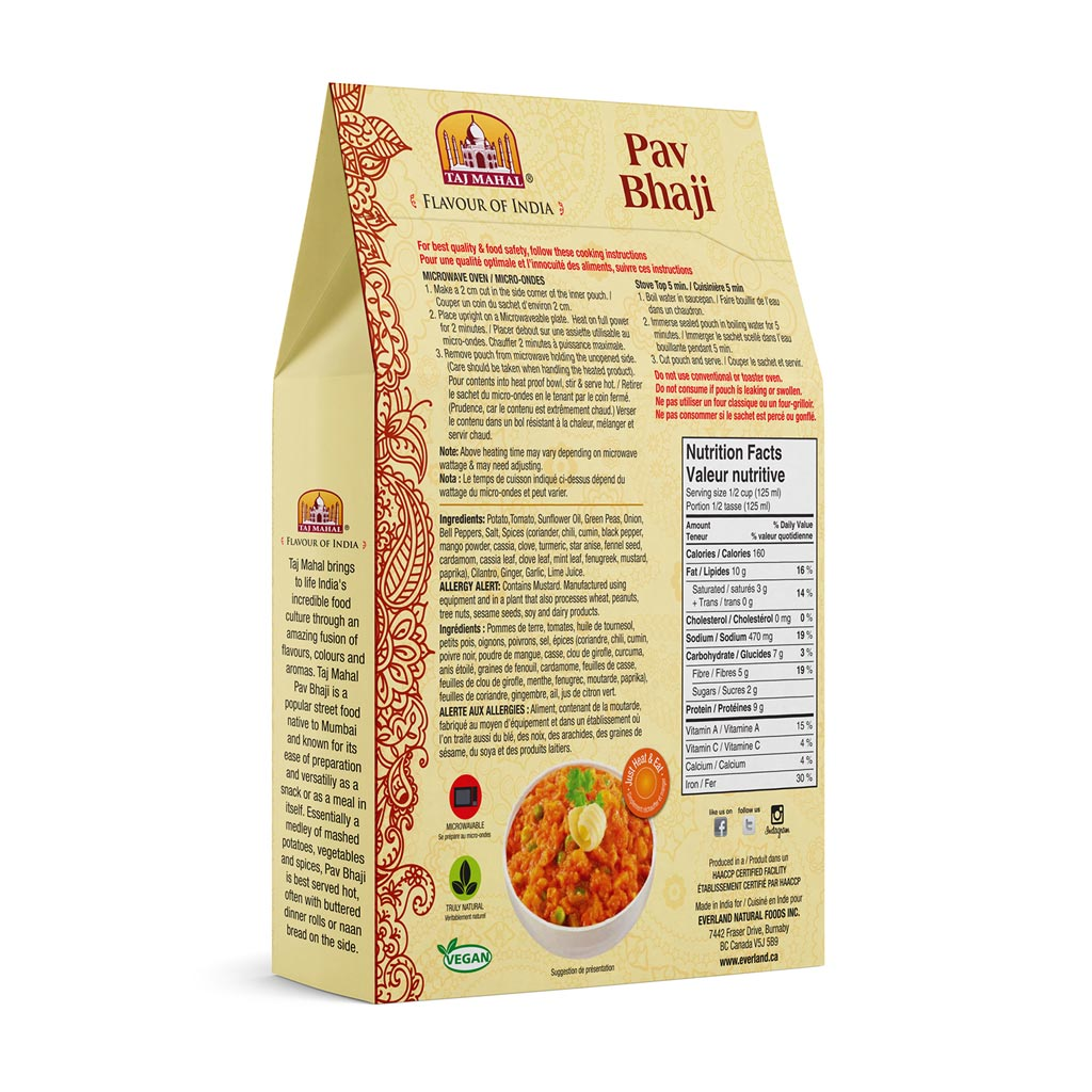 Pack of 3 Pav Bhaji (Mashed Vegetables/Sauce)
