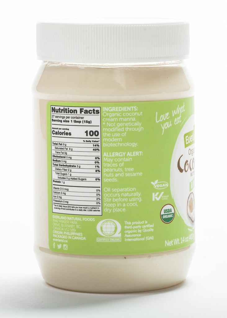 Organic Raw Coconut Butter