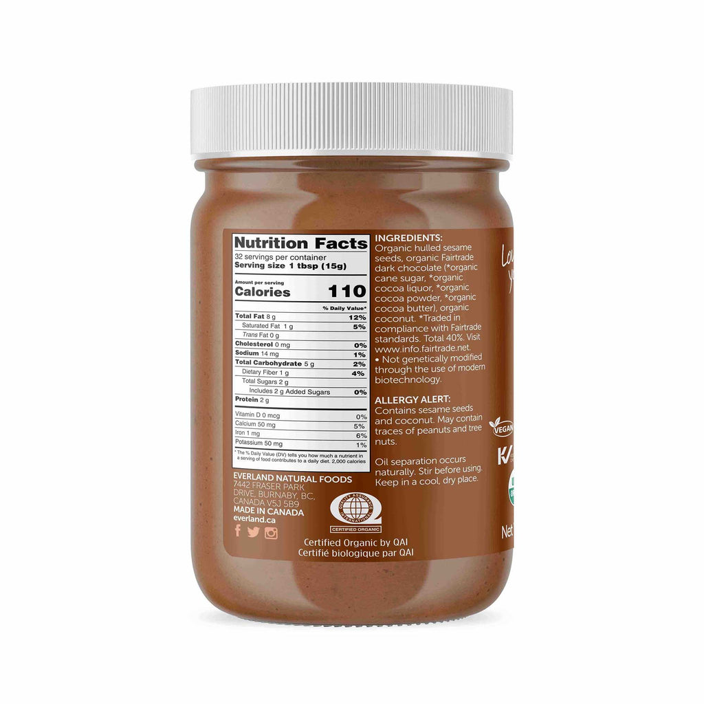Organic Chocolate Coconut Tahini 480g