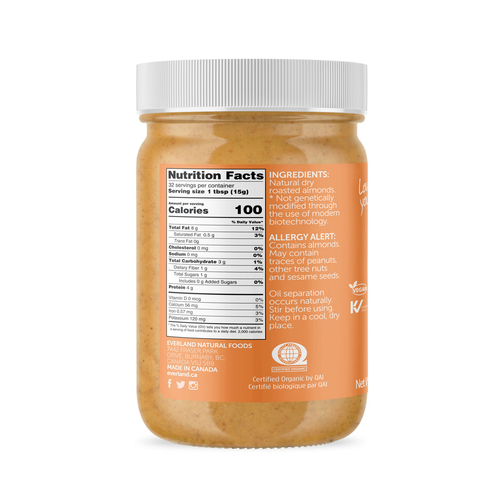Natural Almond Butter, Smooth 480g