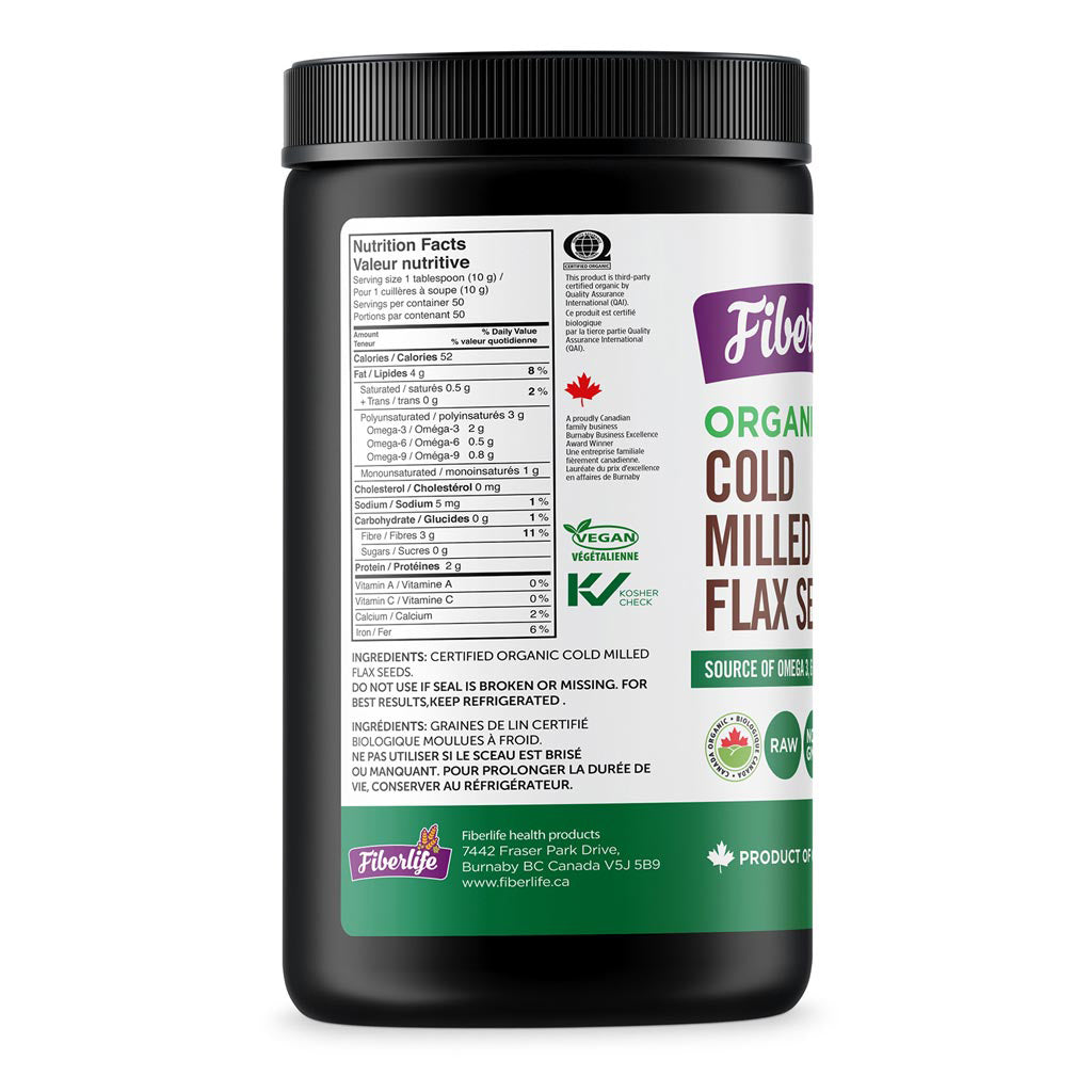 Flax Seed Cold Milled, Organic