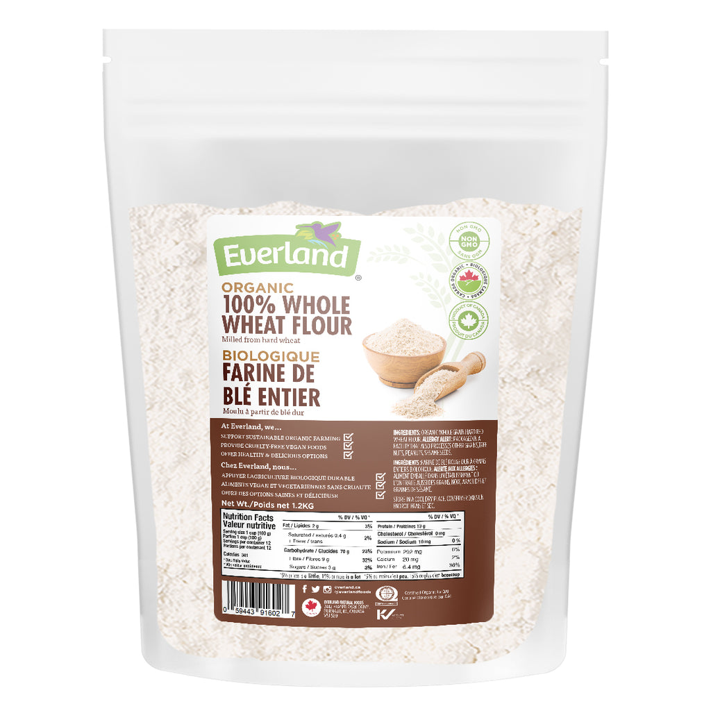 100% Organic Whole Wheat Flour