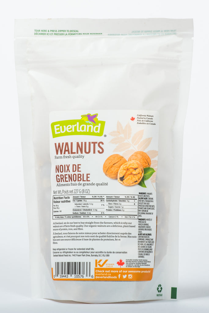 California Wlanuts packed in Canada