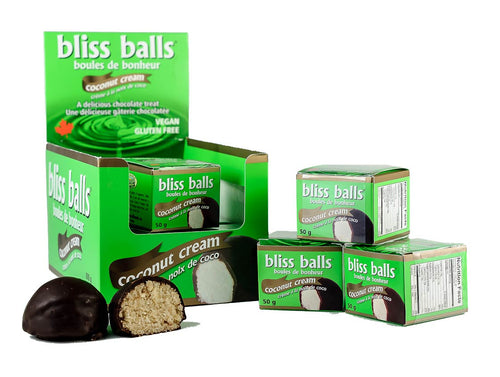 Coconut Cream Bliss Ball Gluten Free, Vegan (single)