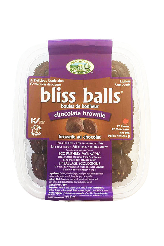 chocolate brownie bliss balls - new world