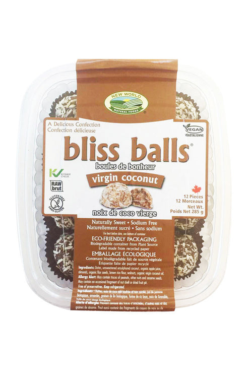 raw virgin coconut bliss balls - new world