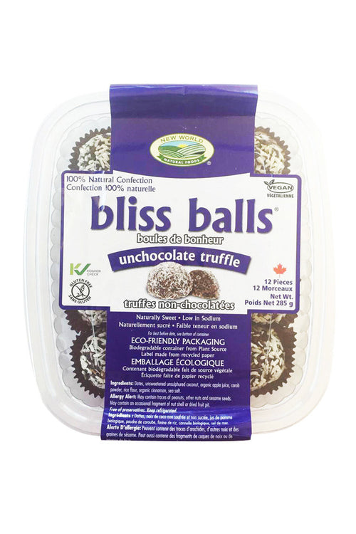 unchocolate truffle bliss balls - new world