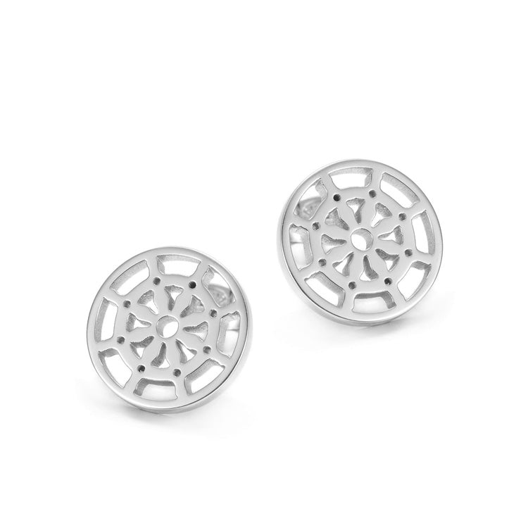 Dharma Wheel Earrings