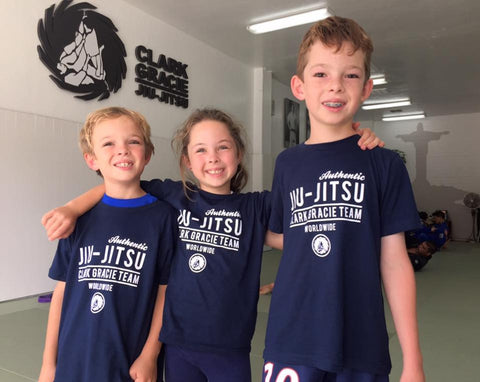 Clark Gracie KIDS Tee Shirt - Authentic Gracie Jiu-Jitsu Navy