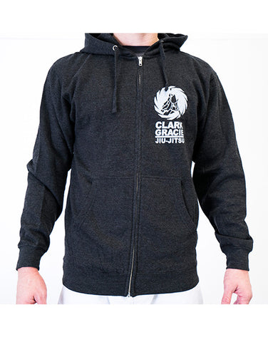 Clark Gracie Team Logo Hoodie - Dark Grey