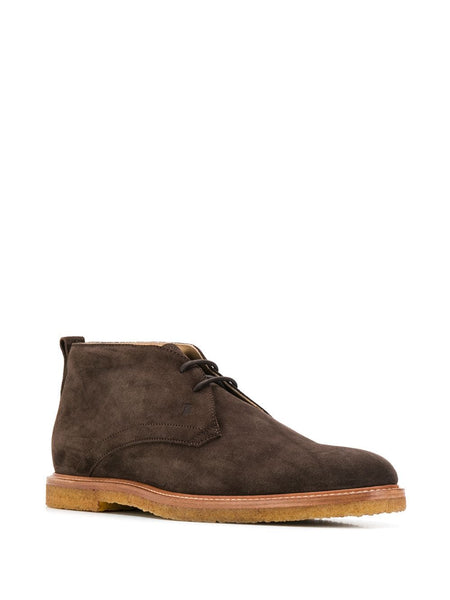 Tod's lace-up desert boots Chukka Brown leather Bootie