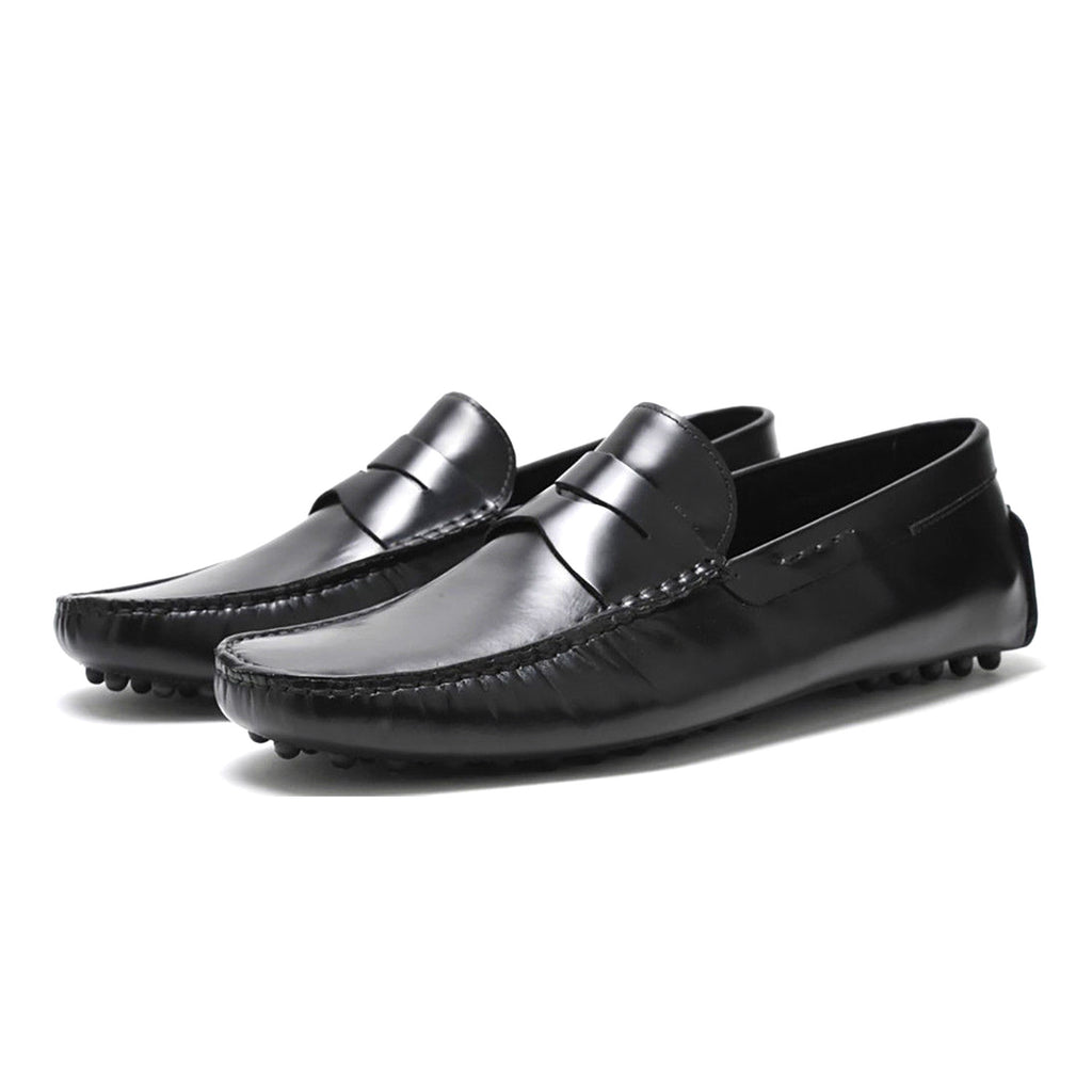 Pair Of Kings Men's The Royal Black Calf Loafer Moccasins