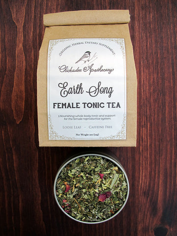 Earth Song (Female Tonic) Herbal Tea - Chickadee Apothecary