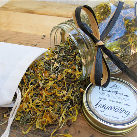 Invigorating Bath Tisane - Chickadee Apothecary