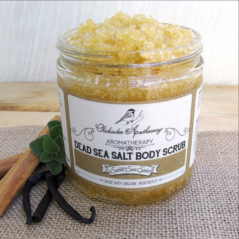 Sweet Sun Spice Dead Sea Salt Body Scrub - Chickadee Apothecary