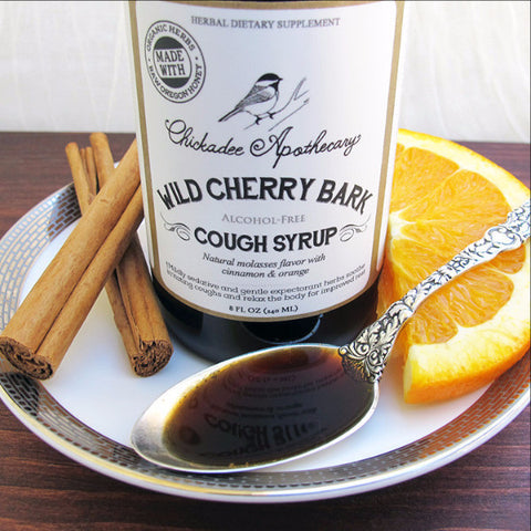 Wild Cherry Bark Cough Syrup - Chickadee Apothecary