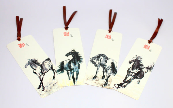 Traditional Horse Painting Bookmark Set