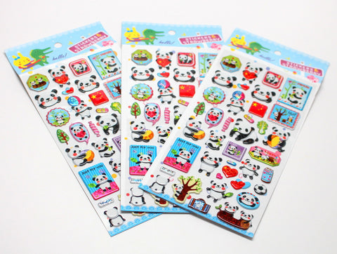 Panda and China Cute Stickers