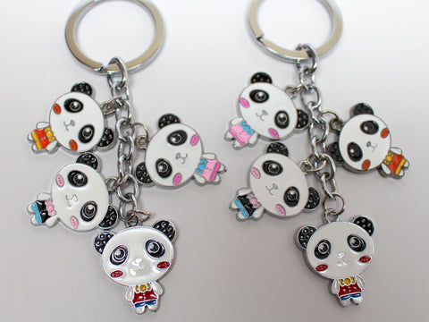 Cartoon Panda Keychain