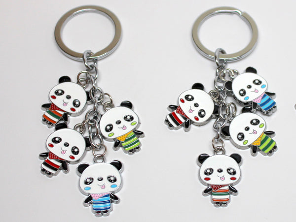 Cute Multi-Panda Keychain