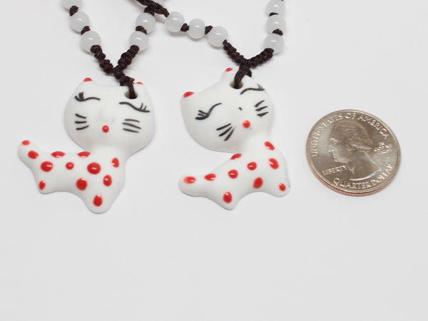 Hand-made Cute Cat Necklace