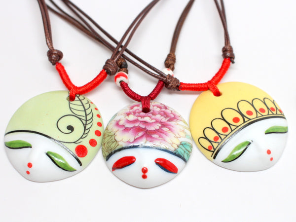 Hand-made Artistic Face Necklace