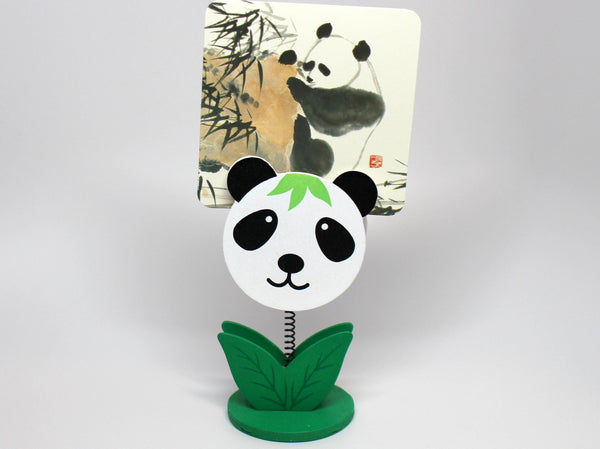 Wood Panda Head Paper/Card Clip