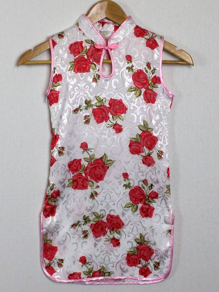 Qipao (Dress) for Girls with Rose Print