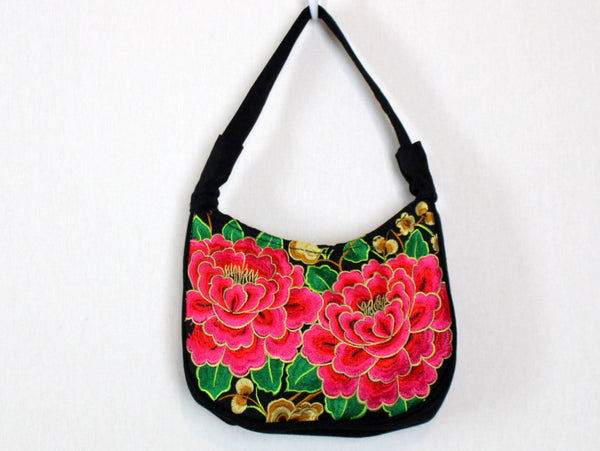 Chinese Embroidered Floral Purse