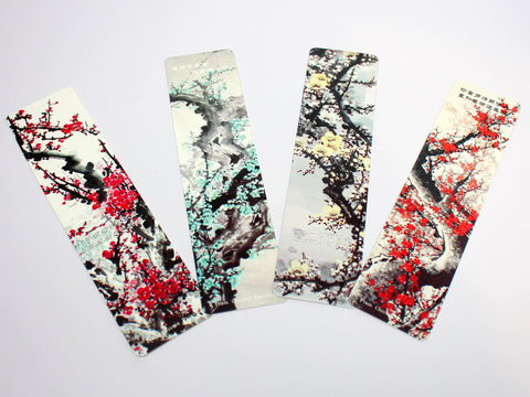 Chinese Flower Painting Bookmark Set