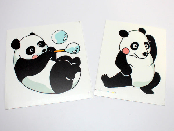Cute Super-sized Color Panda Sticker