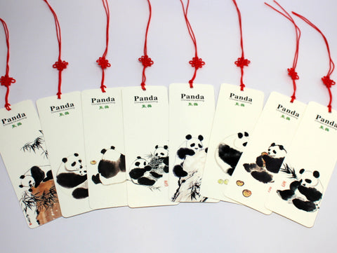 Panda Painting Bookmark Set