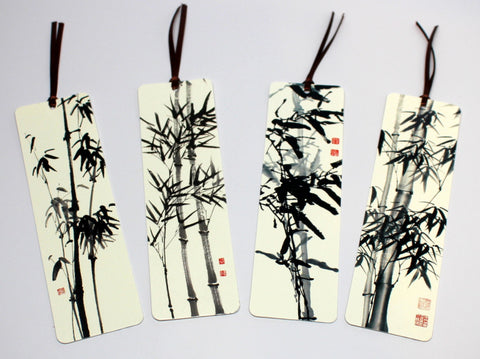 Bamboo Painting Bookmark Set