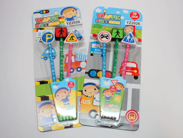 Traffic Sign Pencil Set
