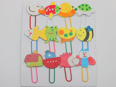 Handmade (painted) Animal Paper Clip Set