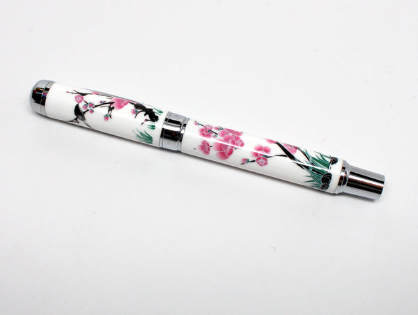 Beautiful Flower Ballpoint Pen with Case