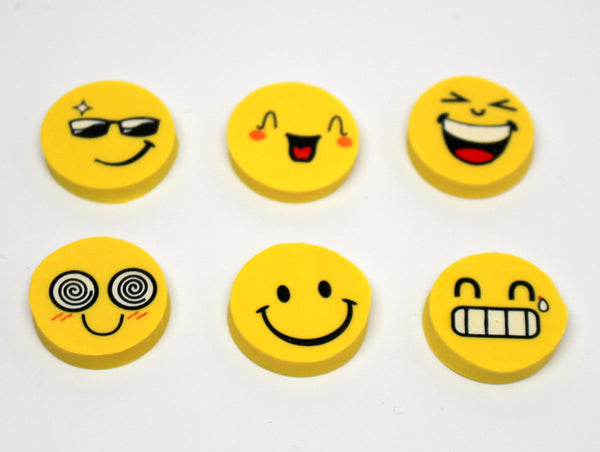 Cute Emoticon/Emoji Eraser Set