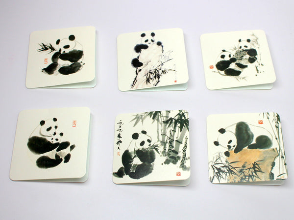 Cute and Refined Panda Card Set (6 Cards)