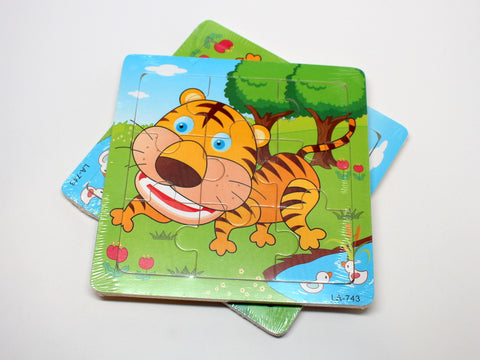 Wooden Tiger Puzzle