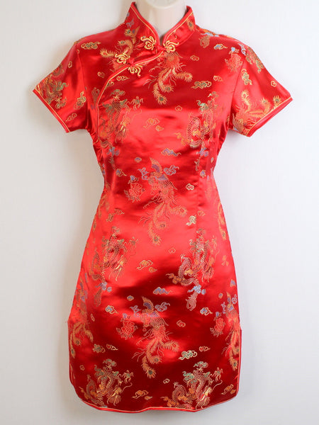 Traditional Qipao Dress (Beautiful Red)